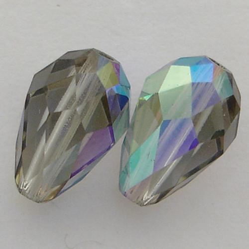 Swarovski 5500 9mm Pearshape Beads Black Diamond AB