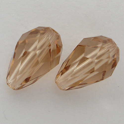 Swarovski 5500 9mm Pearshape Beads Light Colorado Topaz AB