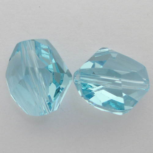 Swarovski 5523 12mm Cosmic Beads Aquamarine