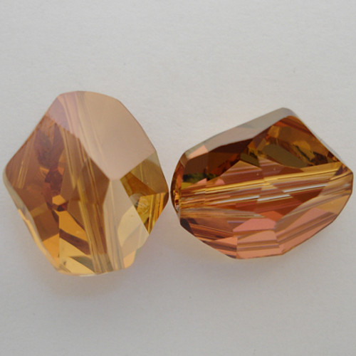 Swarovski 5523 16mm Cosmic Beads Crystal Copper