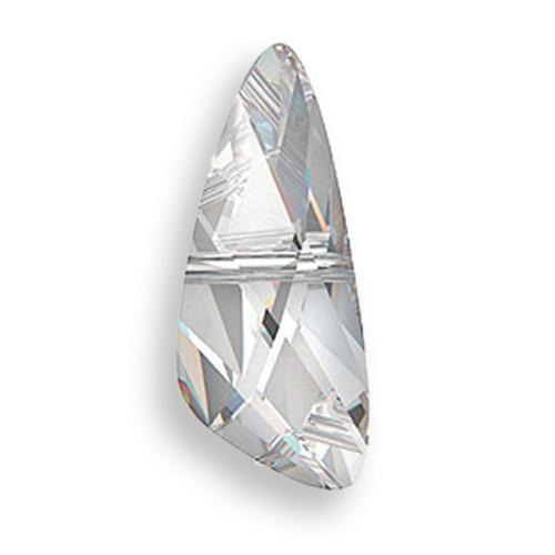 Swarovski 5590 7mm Wing Beads Crystal Silver Night