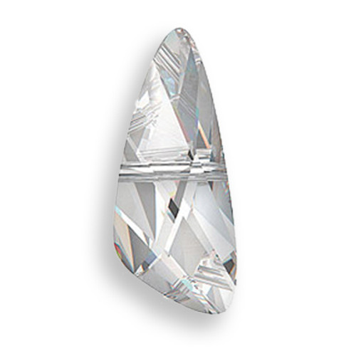 Swarovski 5590 7mm Wing Beads Crystal Silver Shade