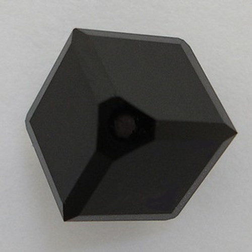 Swarovski 5600 4mm Offset Cube Beads Jet