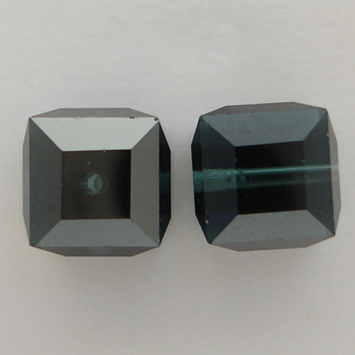 Swarovski 5601 8mm Cube Beads Montana Satin