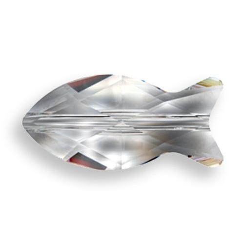 Swarovski 5727 18mm Fish Beads Indicolite