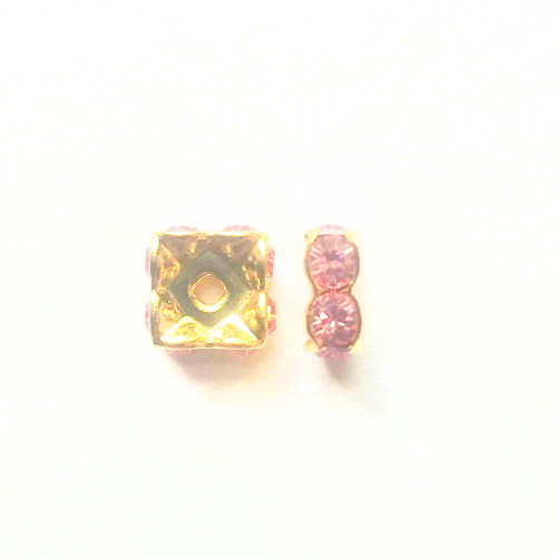 Swarovski 5920 6mm Squaredelles Light Rose
