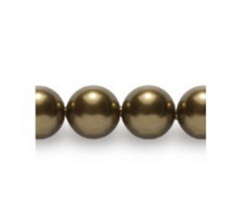 Swarovski 5810 10mm Round Pearls Antique Brass