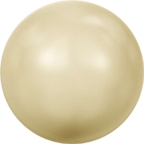 Swarovski 5810 6mm Round Pearls Light Gold