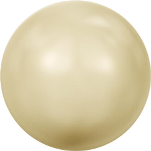 Swarovski 5810 8mm Round Pearls Light Gold
