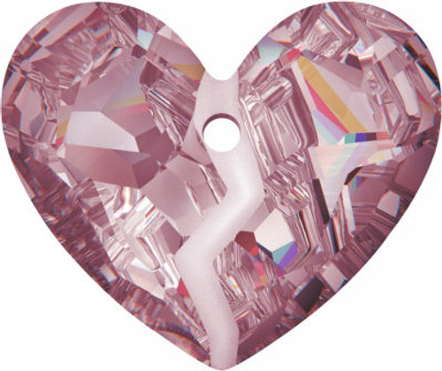 Swarovski 6263 36mm Forever 1 Heart Pendant Crystal Antique Pink