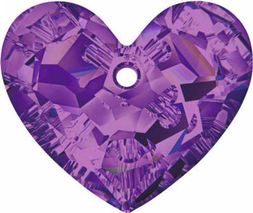 Swarovski 6264 18mm Truly in Love Heart Pendant Amethyst