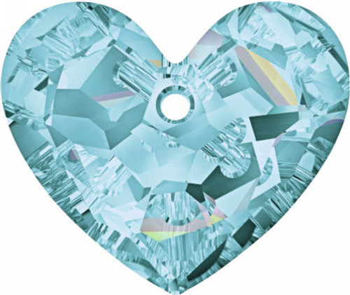 Swarovski 6264 18mm Truly in Love Heart Pendant Aquamarine