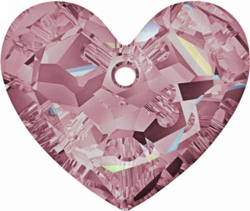 Swarovski 6264 36mm Truly in Love Heart Pendant Crystal Antique Pink