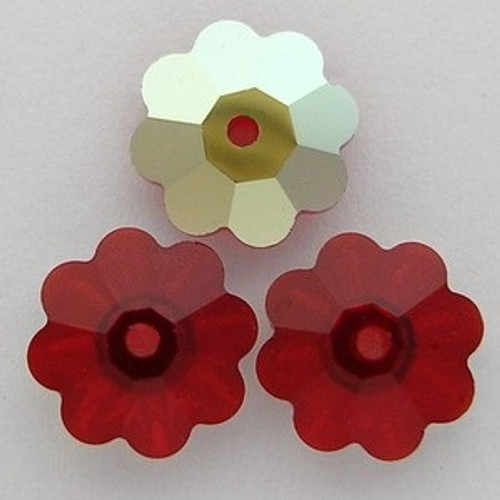 On Sale: Swarovski 3700 10mm Marguerite Beads Siam AB (18 pieces)