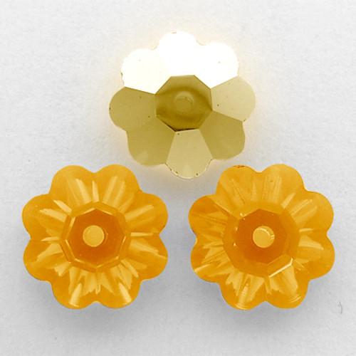 On Sale: Swarovski 3700 10mm Marguerite Beads Sun AB (18 pieces)