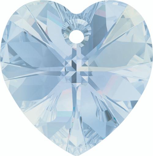 Swarovski 6228 28mm Xilion Heart Pendants Crystal Blue Shade (16 pieces)
