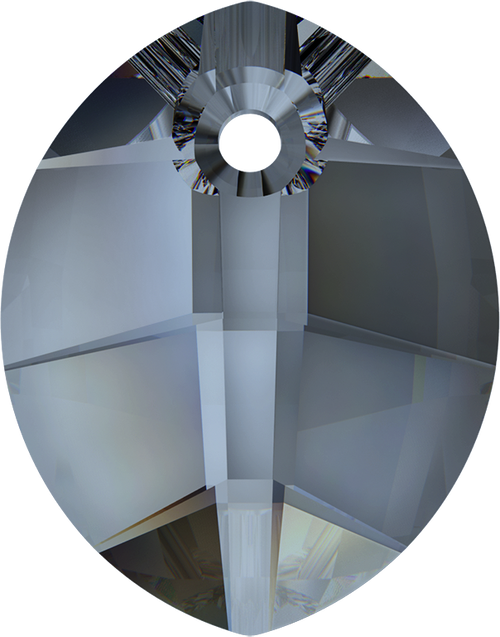 Swarovski 6734 23mm Pure Leaf Pendant Crystal  Blue Shade (30  pieces)