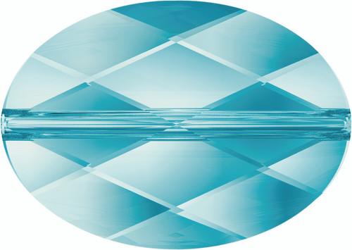 Swarovski 5050 14mm Oval Beads Light  Turquoise  (72 pieces)