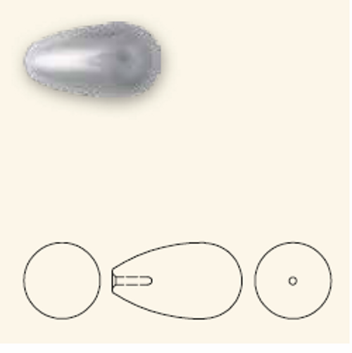 Swarovski 5816 15mm Teardrop Pearls Deep Brown (100  pieces)