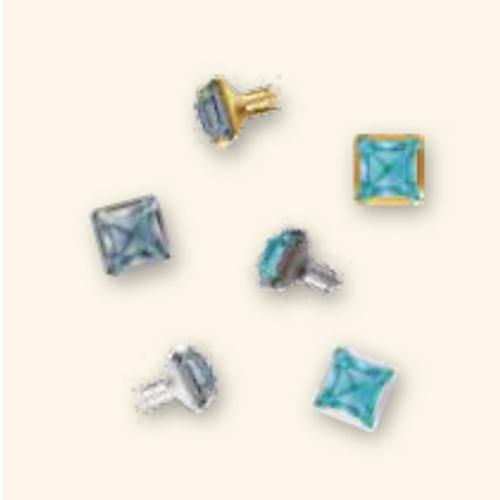 Swarovski Silver 53501 6mm 4428 Fancy Stone Rivets : White Opal