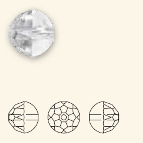 Swarovski 5026 10mm Cabochette Beads Crystal (96 pieces)