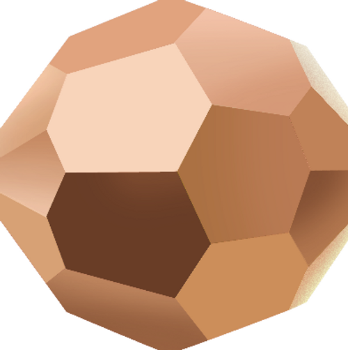 Swarovski 5000 6mm Round Beads Crystal Rose Gold (360 pieces)