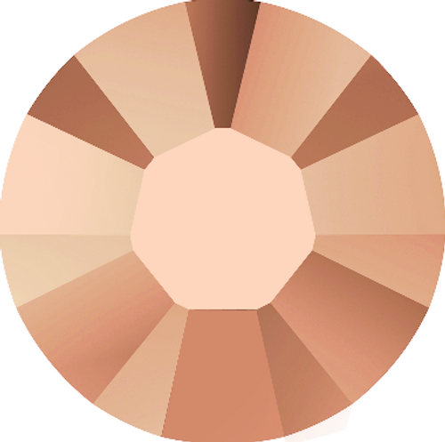 Swarovski 2038 34ss Xilion Flatback Hot Fix Crystal Rose Gold Hot Fix (144 pieces)