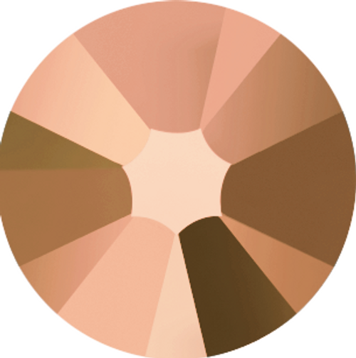 Swarovski 2058 30ss Xilion Flatback Crystal Rose Gold (360 pieces)