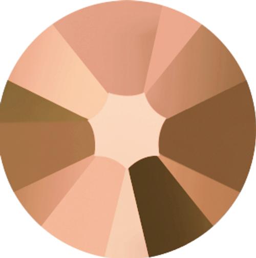 Swarovski 2058 34ss Xilion Flatback Crystal Rose Gold (144 pieces)