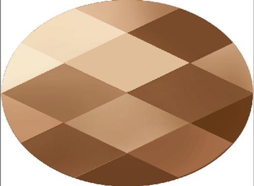 Swarovski 5051 8mm Mini Oval Beads Crystal Rose Gold (288 pieces)