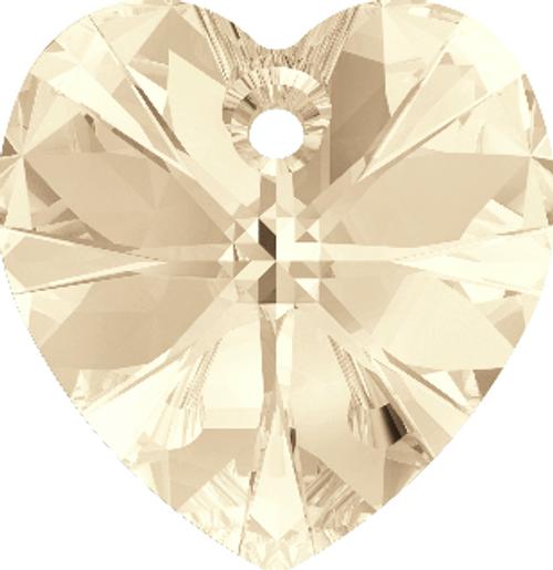 Swarovski 6228 18mm Xilion Heart Pendants Light Silk (72 pieces)