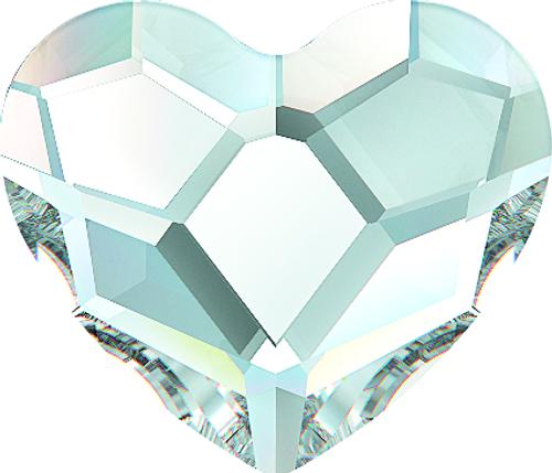 Swarovski 2808 10mm Heart Flatback Crystal AB (144 pieces)