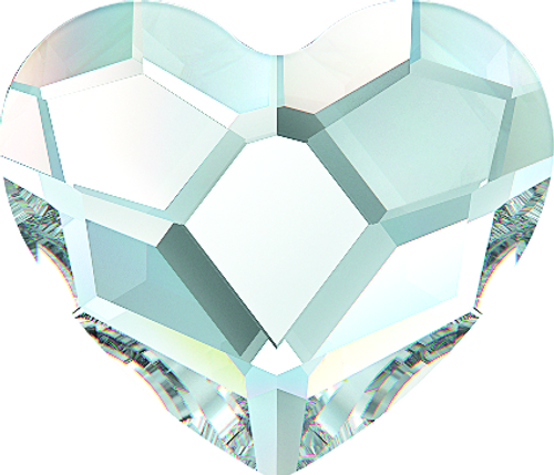 Swarovski 2808 14mm Heart Flatback Crystal (96 pieces)
