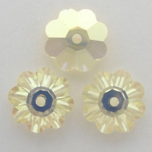 On Sale: Swarovski 3700 8mm Marguerite Beads Jonquil AB (18 pieces)
