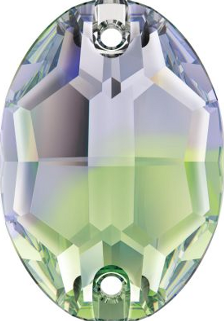Swarovski 3210 10mm Oval Sew On Provence Lavender-Chrysolite Blend (72 pieces)