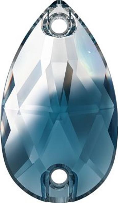 Swarovski 3230 18mm Pear Sew On Crystal-Montana Blend (72 pieces)