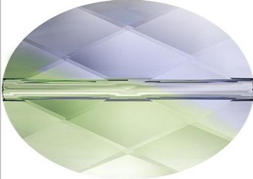 Swarovski 5050 14mm Oval Beads Provence Lavender-Chrysolite Blend (72 pieces)