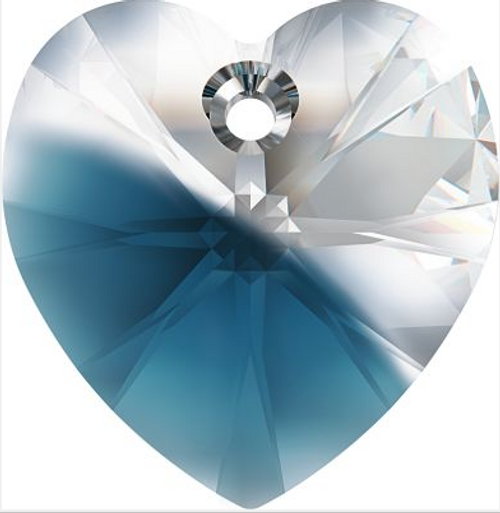 Swarovski 6228 10mm Xilion Heart Pendants Crystal-Montana Blend (288 pieces)