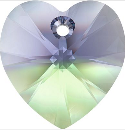 Swarovski 6228 10mm Xilion Heart Pendants Provence Lavender-Chrysolite Blend (288 pieces)