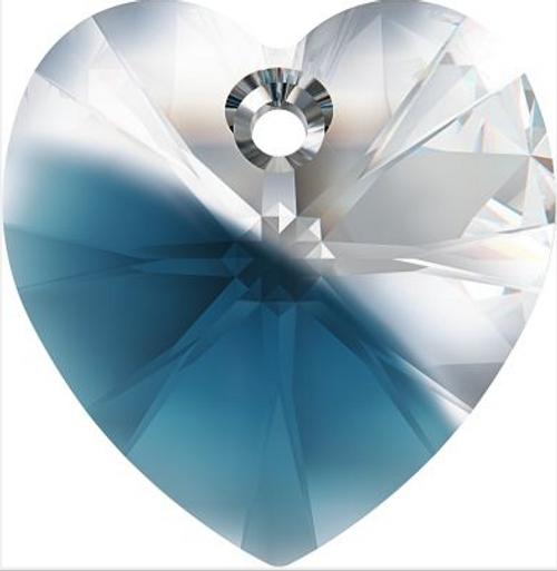 Swarovski 6228 14mm Xilion Heart Pendants Crystal-Montana Blend (144 pieces)