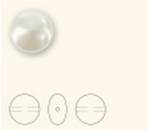 Swarovski 5860 14mm Crystal Coin Pearl Crystal Creamrose Pearl  ( 100 pieces)