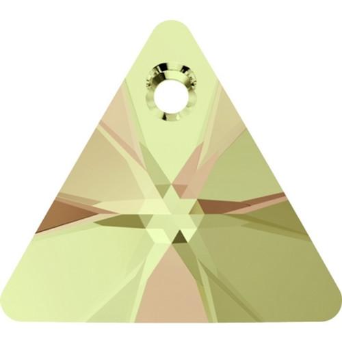 Swarovski 6628 12mm Xilion Triangle Pendant Crystal Luminous Green ( 144 pieces)