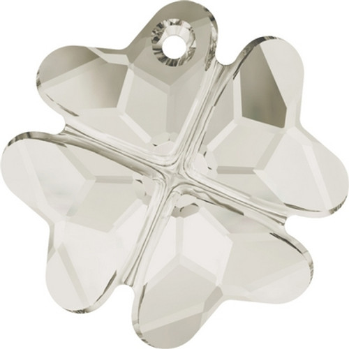 Swarovski 6764 19mm Clover Pendants Crystal Silver Shade ( 48 pieces)