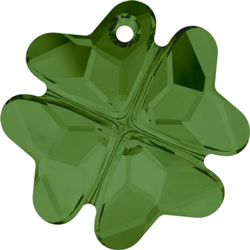Swarovski 6764 19mm Clover Pendants Dark Moss Green  ( 48 pieces)