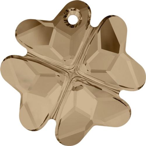Swarovski 6764 23mm Clover Pendants Crystal Golden Shadow ( 24 pieces)