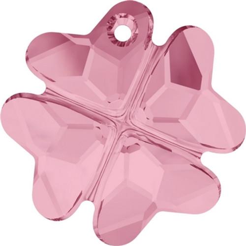 Swarovski 6764 23mm Clover Pendants Light Rose ( 24 pieces)