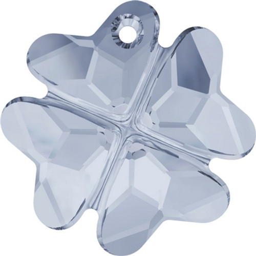 Swarovski 6764 28mm Clover Pendants Crystal Blue Shade ( 16 pieces)