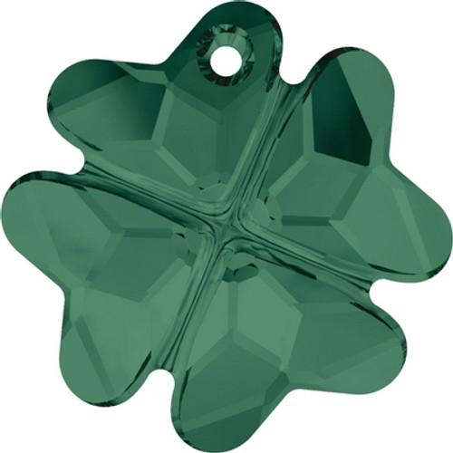 Swarovski 6764 28mm Clover Pendants Emerald ( 16 pieces)
