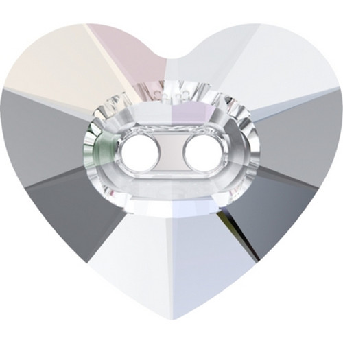 Swarovski 3023 14mm Heart Button Crystal ( 144 pieces)