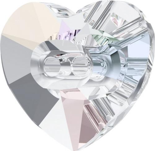 Swarovski 3023 14mm Heart Button Crystal AB ( 144 pieces)